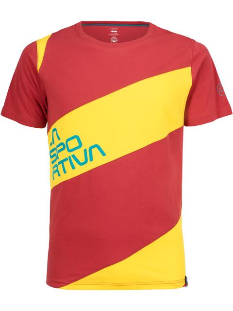 La Sportiva Slab T-Shirt Men Cardinal Red/Lemonade
